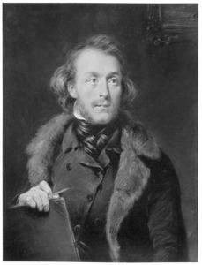 Portret van een kunstenaar, waarschijnlijk Jan van Ravenswaay Gijsb.zn.