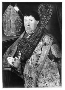 Portret van Nicolaus a Spira (1510-10 juli 1568), abt van de norbertijner abdij te Grimbergen (1543-1568)