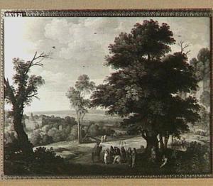 Landschap met Jozef door zijn broers als slaaf verkocht (Genesis 37:23-28)