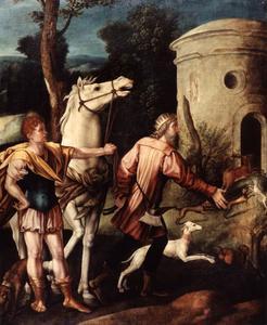 Koning Dagobert vindt het graf van de H. Dionysius