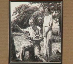 Portret van Johan Dijkstra (1896-1978) en zijn vrouw