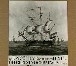 Het vaartuig 'De Jonge Lieve', waarop in 1774 Mr. Johan