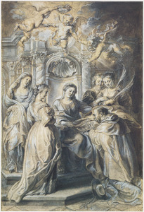 De Heilige Maagd schenkt de Heilige Ildefonso zijn kazuifel