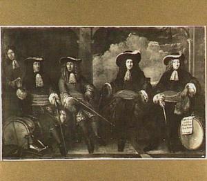 Groepsportret van de kapiteins der schutterij te Hoorn