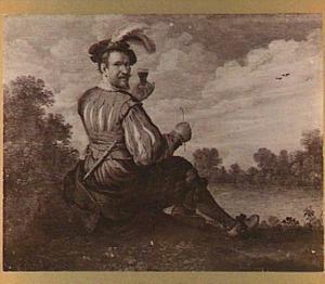 Zelfportret in een landschap