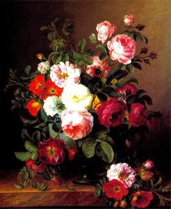 Een vaas met rozen