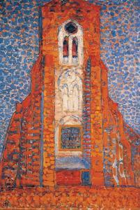 Zon, kerk in Zeeland (authentiek)