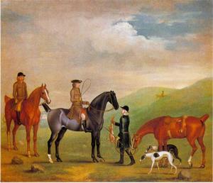 De vierde Lord Craven op jacht in Ashdown Park