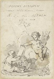 Titelblad  voor de illustraties in de 'Kleine gedichten voor kinderen' door H. van Alphen