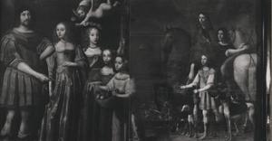 Portret van de familie van Willem Ripperda (1600-1669) en Alidt van Boeckhorst (....-1642)