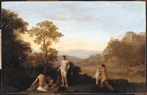 Landschap met badende nimfen