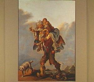 Allegorie op de armoe: ' 't Sijn ellendige beenen die Armoet moetê draegen'