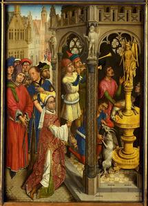 De H. Augustinus offert aan een afgod van de Manicheeërs?