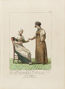 Hernhutterse vrouwe met haar dochter uit Zeist