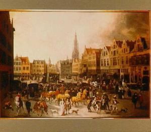 Vastenavondviering op de Meir te Antwerpen