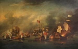 De zeeslag bij La Hougue
