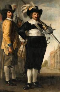 Dubbelportret van Willem de Langue (1599-1656) en Daniel van der Brugge (?-1676)