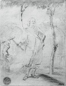 Portret van hertog Friedrich III van Schleswig-Holstein-Gottorf (1597-1659) voor de terrastuin, Neuwerkgarten