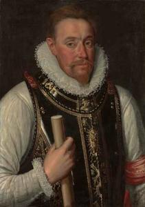 Portret van een onbekende krijgsman met de Orde van het Gulden Vlies