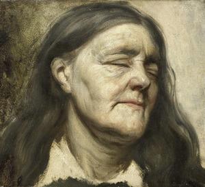 Portretstudie van een oude vrouw