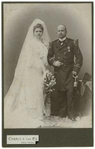 Portret van Johannes Hendrik Otto van den Bosch (1869-1940) en Jeanne Francoise Marie Rijnen (1879-1915)