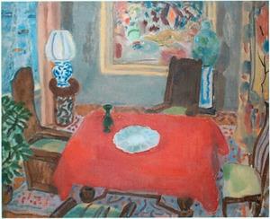 Interieur van de schilder op het Olympiaplein te Amsterdam