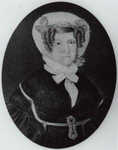 Portret van Maria Margaretha Henrica van Oldenbarneveld genaamd Witte Tullingh (1774-1864)