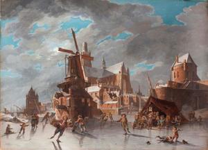 Wintergezicht met Haarlemse motieven