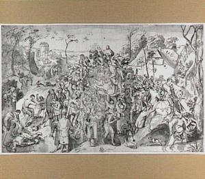 H. Martinus en het verstrekken van wijn aan het volk