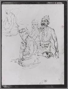 Vier Javaanse acteurs