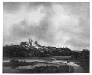 Heuvellandschap met gezicht op kasteel Bentheim