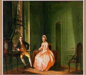 Dubbelportret van Johannes Nomsz (1738-1803) en Telghorst (....-1783)