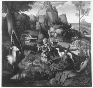 Landschap met de H. Hubertus