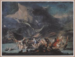 Zeegevecht tussen Turken en Westerlingen