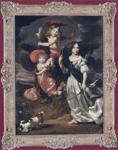 Portret van drie kinderen als Ceres, Ganymedes en Diana