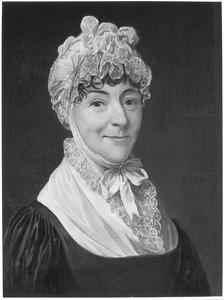 Portret van Christina Elisabeth Overschie ( -1828)