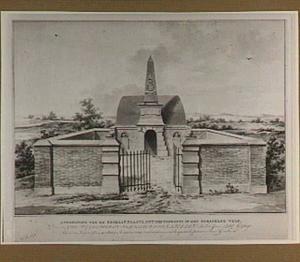 Voorzijde van het graf van de familie Van der Capellen