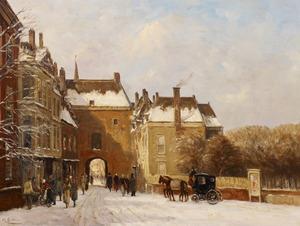 Buitenhof in Den Haag met de Gevangenpoort