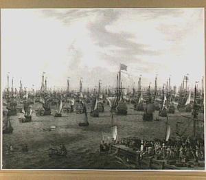 Vertrek van Willem III uit Hellevoetsluis, 19 oktober 1688