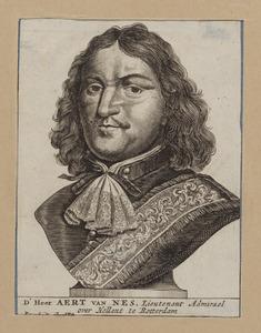 Portret van Aert van Nes ( ....-1693) als buste op een sokkel