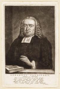 Portret van Gerardus Sandifort (1709-1757)