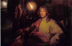 Portret van James Stuart, hertog van Lennox en Richmond (1612-1655), met zijn windhond