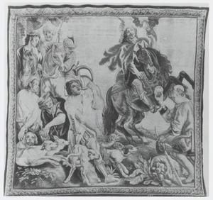 Theodosius ontvangt de appel van een landarbeider