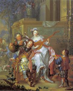 Galante scène met een amoureus paar