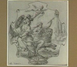 Allegorische voorstelling met Minerva en Ratio