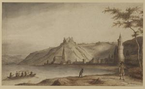 Gezicht op Oberwesel aan de Rijn