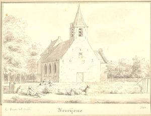 Neerijnen, gezicht op de kerk 1692