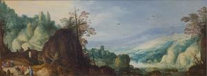 Panoramisch berglandschap met een rivier