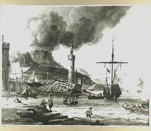 Mediterraan kustgezicht met een vuurtoren