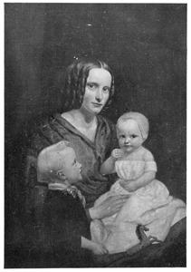 Portret van Catharina Maria van Heek-Blijdenstein met haar kinderen